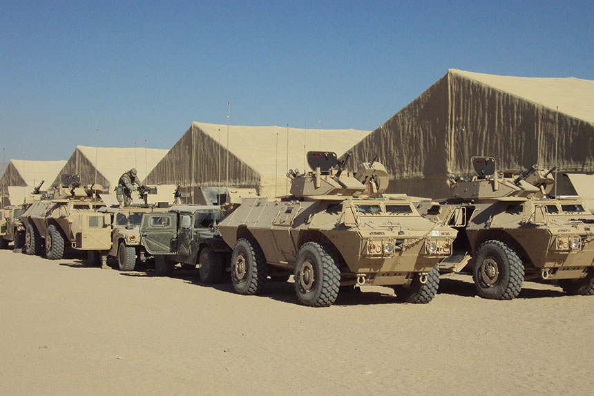 Ft. Irwin Foam Tents