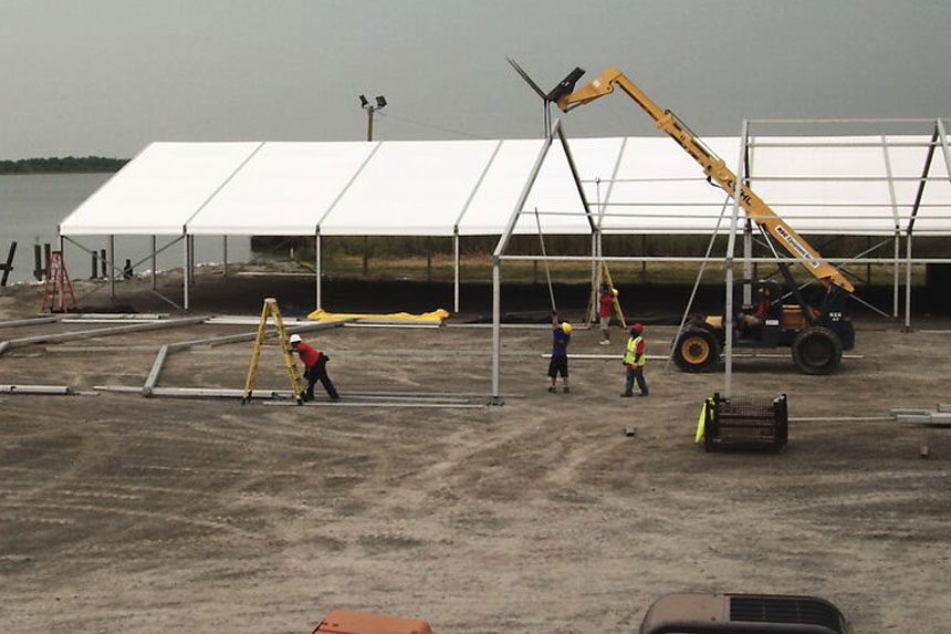 Gulf Oil Spill Construction Site Installation